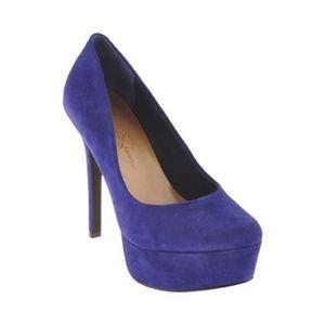 Jessica Simpson Sz 5.5 Blue Violet Waleo heels